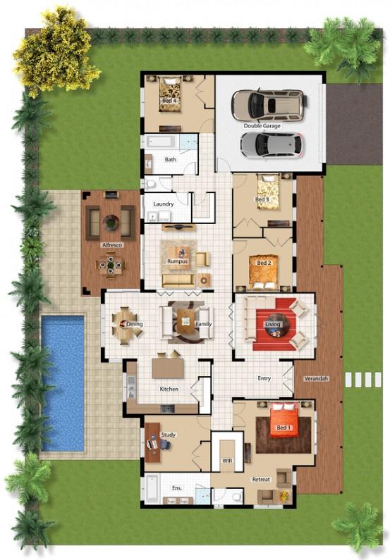 Study Floor Plan Option