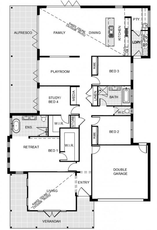 Floor Plan - Liivng to Rear