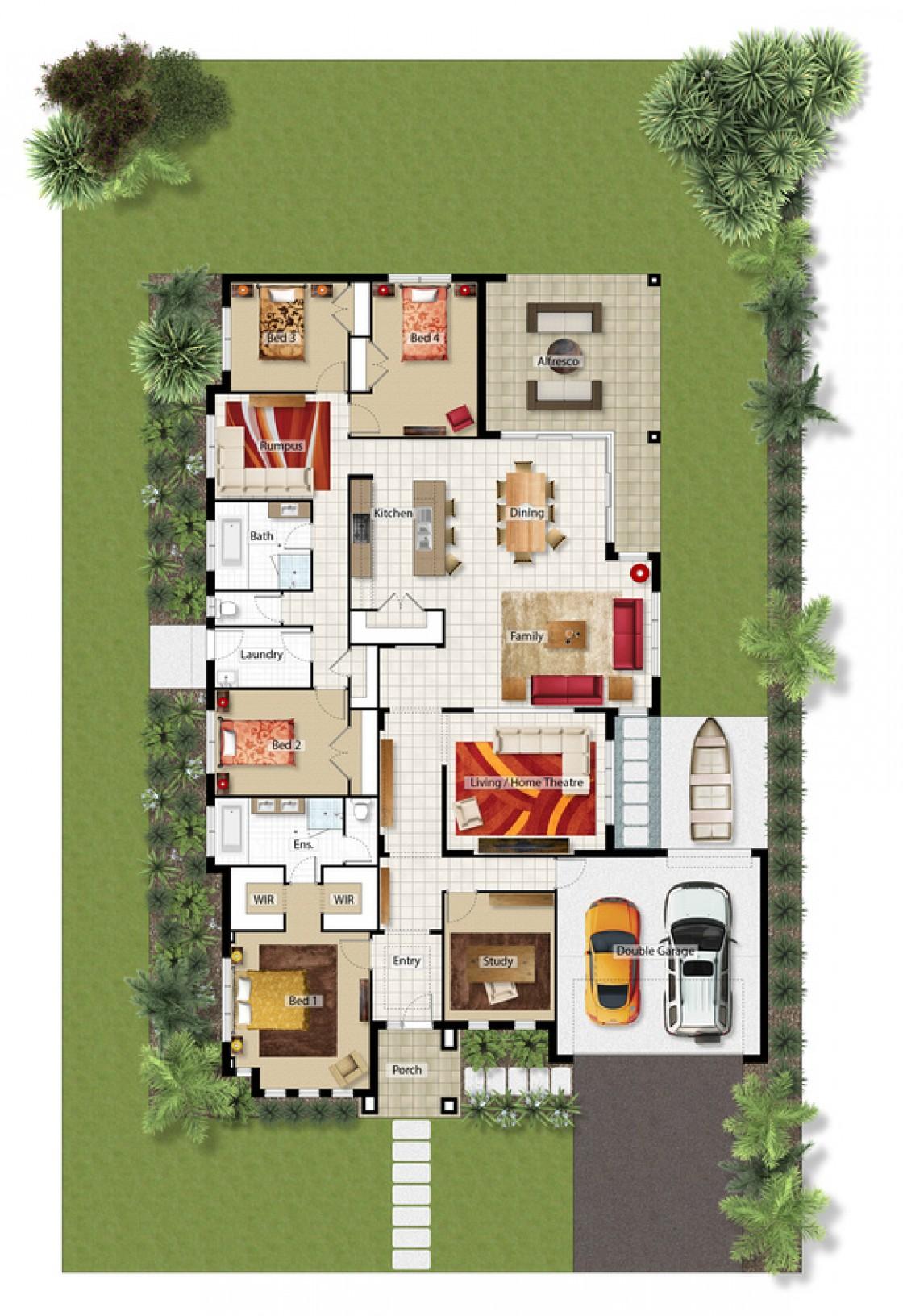 Optional Rumpus/Study Floor Plan
