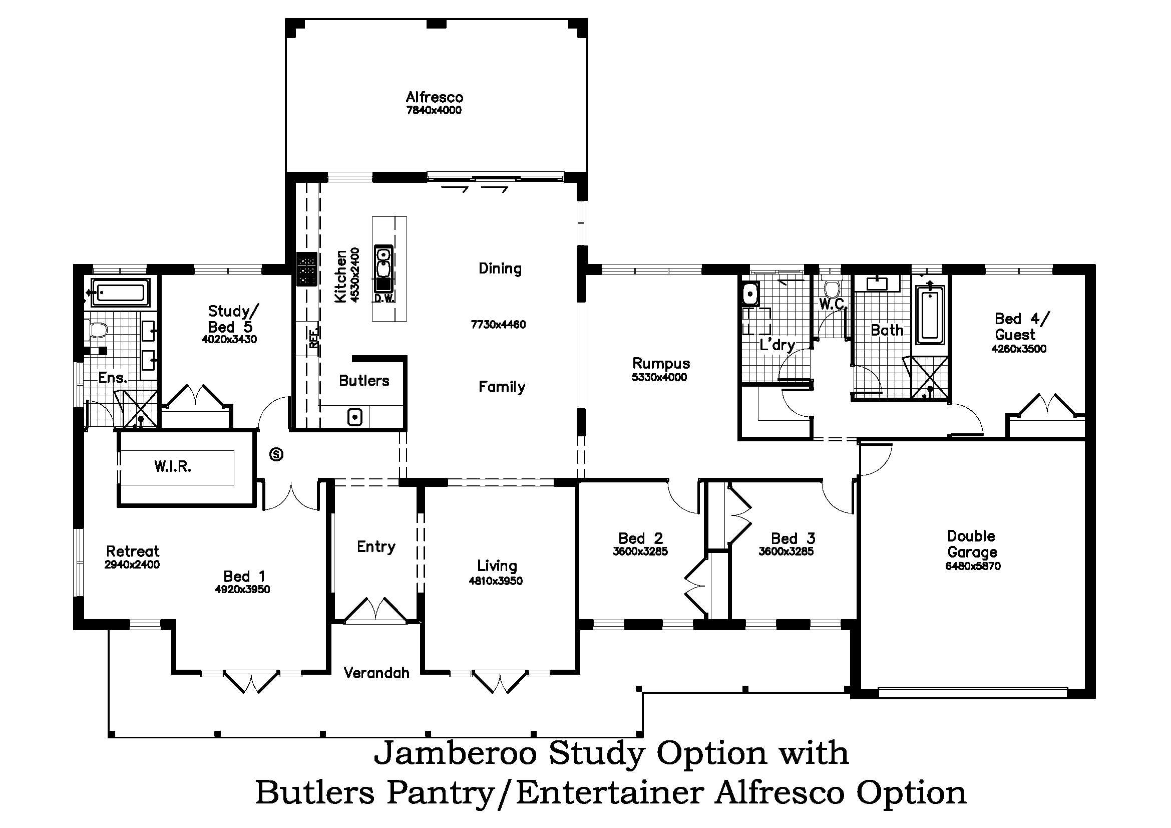 Study Option with Butlers Pantry/Entertainer Alfresco