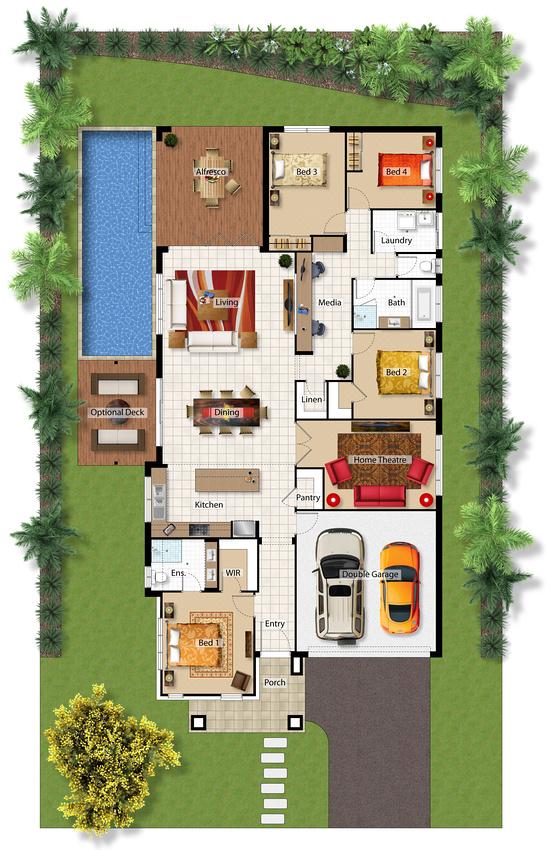 Saltwater barrington homes for Planos de casa con piscina interior